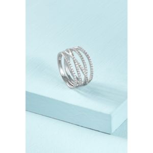 Stella and Dot pave stellar ring in silver